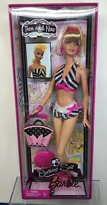 "12"" Mattel Barbie Doll ""Bathing Suit Then And Now 1959-2009""  Beach Mint NRFB #B"