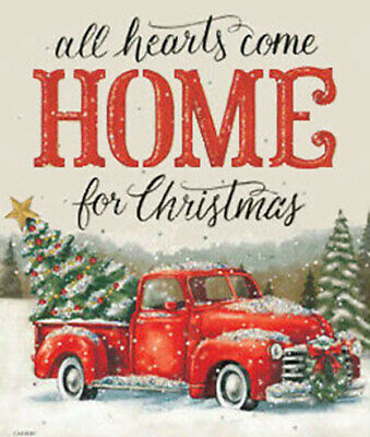 Holidays Cross Stitch Pattern_⛄Home From Christmas_Santa Claus_Red Truck