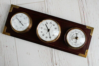 Mariner CLOCK, TERMOMETER AND  BAROMETER with Board
