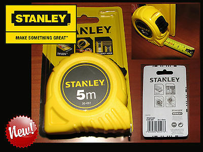 STANLEY 0 30 497-FLESSOMETRO RIVESTIMENTO TYLON ABS- MEASURING TAPE-5 Metri-NeW