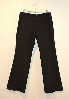 Ann Taylor Lindsay Women's Dress Pants Career Trousers Flare Black Size 8