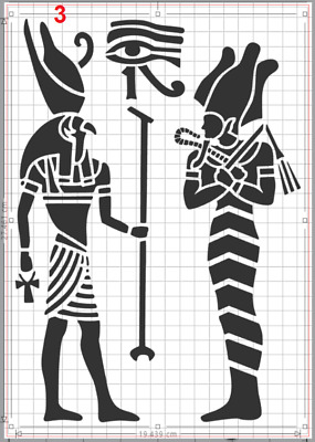 Ancient Egyptian God Horus Stencil MYLAR A4 sheet strong resuable Art Craft Deco