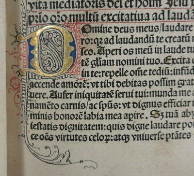 Thomas a Kempis Life of Christ 1488  Incunable Gold Illuminated Initials 1st Ed