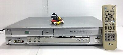 LG VCR DVD Combo Player 6 Head HiFi Stereo V782W With Remote & AV Cable.