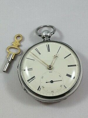 Gents Sterling Silver Victorian Fusee Pocket Watch