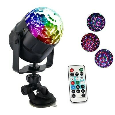 6 Colors USB DC5V 6W LED Magic Ball Stage Light Sound Activated Remote Control P