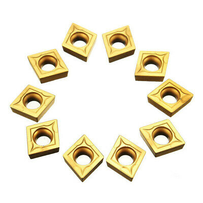 Drillpro 10pcs CCMT09T304 CCMT32.5 Carbide Insert For Lathe SCLCR Turning Tool H