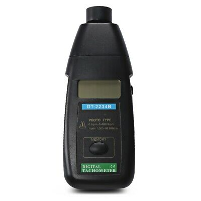 DT2234B Digital RPM Measurer Laser Tachometer 1 - 99999RPM Non Contact Blackligh