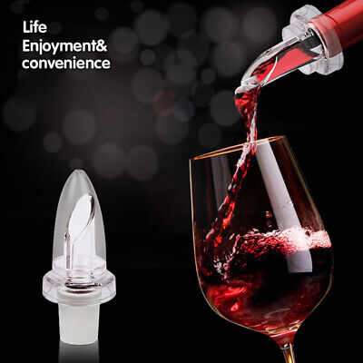 White Red Wine Aerator Pour Spout Bottle Stopper Aerating Decanter Pourer