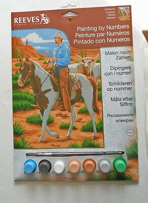 Reeves Painting by Numbers set. New. Featuring a Cowboy.