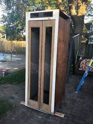 Antique Indoor Telephone Booth wood 1940's