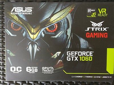 AS_NEW_ASUS_STRIX_GAMING_GTX1060_6G_DC2_OC_Graphics_Card