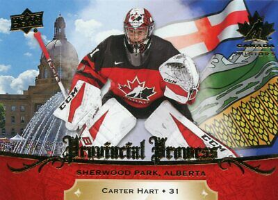 2018 Upper Deck Team Canada Juniors Provincial Prowess- See list