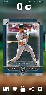 Topps Bunt Digital Mark McGwire Blue Base Variant Museum D3 50cc