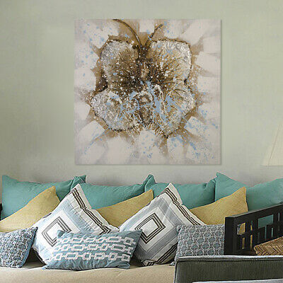 Modern Abstract Hand Painted Canvas Art Oil Painting Wall Decor Framed Butterfly