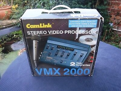 Vintage CAMLINK VMX2000 Stereo Video Processor/Enhancer/Stereo Mixer