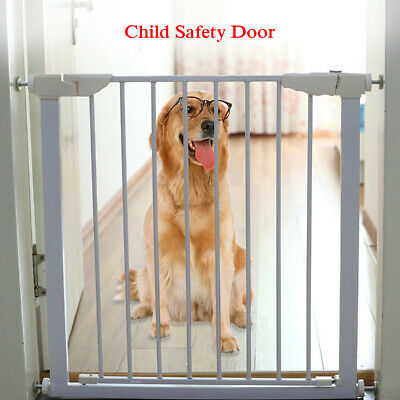 Adjustable Width Baby Pet Child Safety Security Gate Stair Barrier 77CM Height