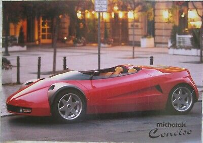 1993 Ferrari Conciso Concept Car By Michalak - Advertisement Brochure - Rare!!!!