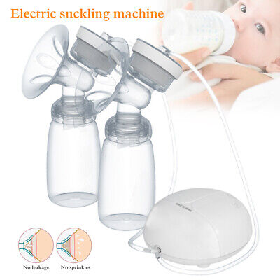 Electric Double Breast Pump Automatic Nipple Suction Pump Breastpump AU