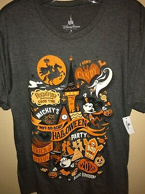 NEW 2018 Mickey's Not So Scary Halloween Party LOGO T-Shirt UNISEX MEDIUM