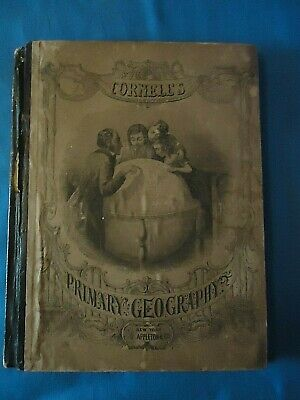 Antique 1857 Early Maps Cornell's Primary School Geography Book -D Appleton & Co