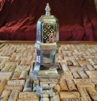 Vtg Antique Silver Square Sugar Shaker Muffineer Made In England & Beautiful