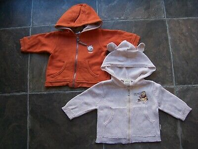 Baby Boy's Winter Hoodie/Hooded Jacket x 2 Incl Pumpkin Patch Size 00 VGUC