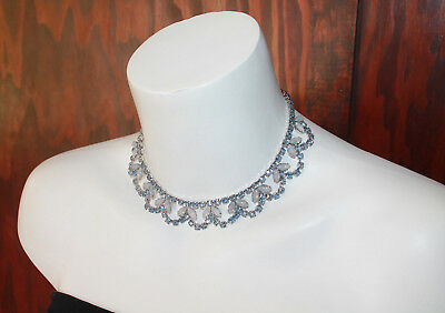 Vintage Late 40's / 50's Fred A. Block - Rare and Stunning Rhinestone Necklace