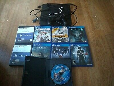 SONY PlayStation 4 - PS4 Slim 500gb console with controller and 9 games
