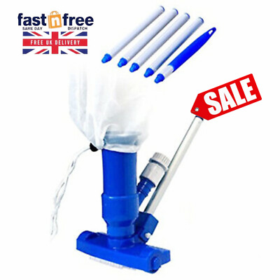Swimming Pool Super Jet Vacuum With 4 Pole Sections Cleaning Hoover Suction Spa