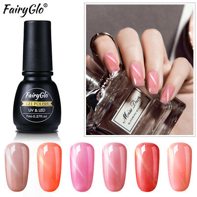 FairyGlo 3D Esmalte Semipermanente de Uñas en Gel  Manicura UV LED Soak Off 7ML