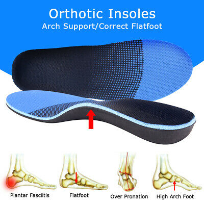 Pair Orthotic Arch Support Shoe Insole Flat Feet Correct Pad Pain Relief Plantar