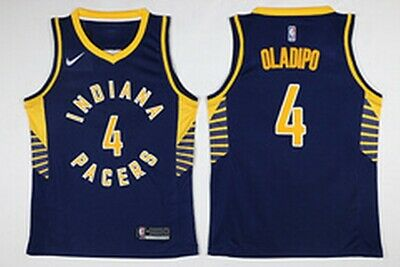 pretty nice c52b9 25d8a MEN'S VICTOR Oladipo #4 Indiana Pacers Yellow 2018 Swingman ...