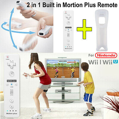 Motioplus Built-in REMOTE CONTROLLER FOR NINTENDO WII / WII U + SILICONE + STRAP