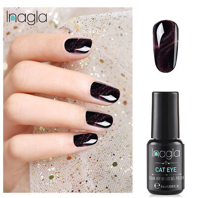 Inagla 3D Color cambiante Esmalte de Uñas en Gel Manicura UV LED Soak Off 8ML