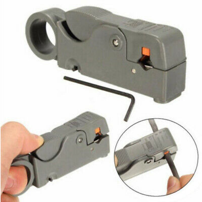 Rotary Coaxial Coax Cable Cutter Stripper Network Wire Lead Sky Gray JVP