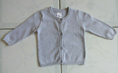 Baby Boy/Girl's Grey Cardigan - Size 3-6 Months (00) Brand: Tiny Little Wonders