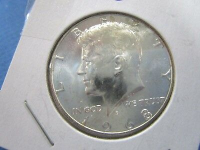 1968 D  USA 40% Silver Kennedy Half Dollar  UNC Proof Like