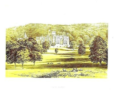 Capernwray, Near Lancaster, Lancashire - Seat of the Marton Family - WB - c1865