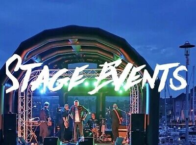 STAGE HIRE, 6M X 4M Mobile Covered Stage, Djs And Live Bands