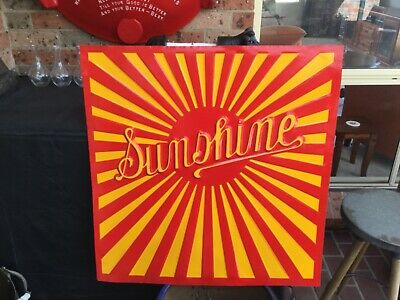 H V McKay sunshine harvester original sign, beautifully restored.furphy