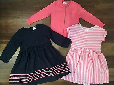 Cotton On Girls Dresses And Cardigan, Size 4