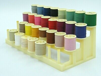 French Sewing Thread Bobines Rack Stand with Threads - Ideal for Display/Craft