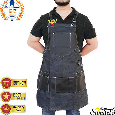 Professional Cotton Jeans Hairdressing Barber Apron Cape for Barber Hairstylist