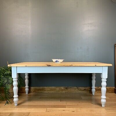 Rustic Rectangle Pine Table Farmhouse Country  KItchen Dining Shabby Chic