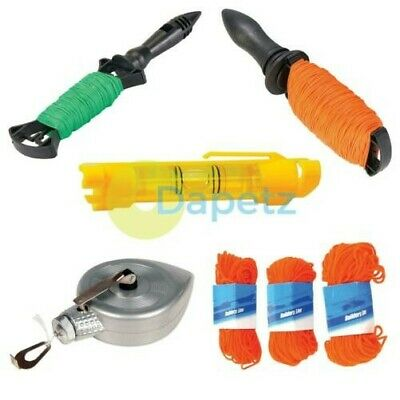 Builders String Brick Line Construction Fencing Bubble Level Rope Twine Cord