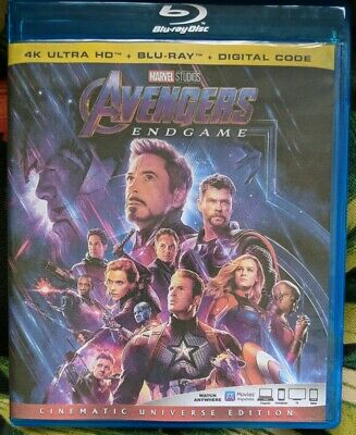 Avengers Endgame 2019 (Blu-ray 1 Disc) brand new unused disc w case * see detail