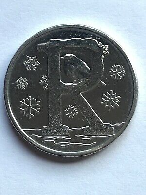 NEW A-Z  ALPHABET 10p COIN HUNT- LETTER R - ROBIN  UNCIRCULATED