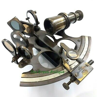 Antique Brass Sextant Maritime Collectible Gift