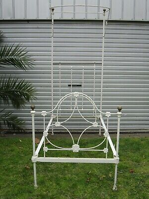 Antique Vintage Victorian Poster Cast Iron Bed